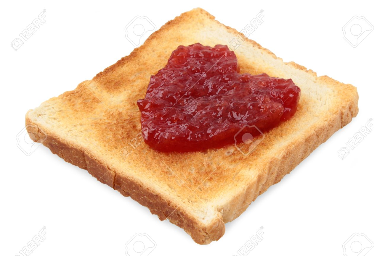 Red fruit jamd heart symbol on toast isolatedcloseup white red fruit jamd heart symbol on toast isolatedcloseup white background biocorpaavc