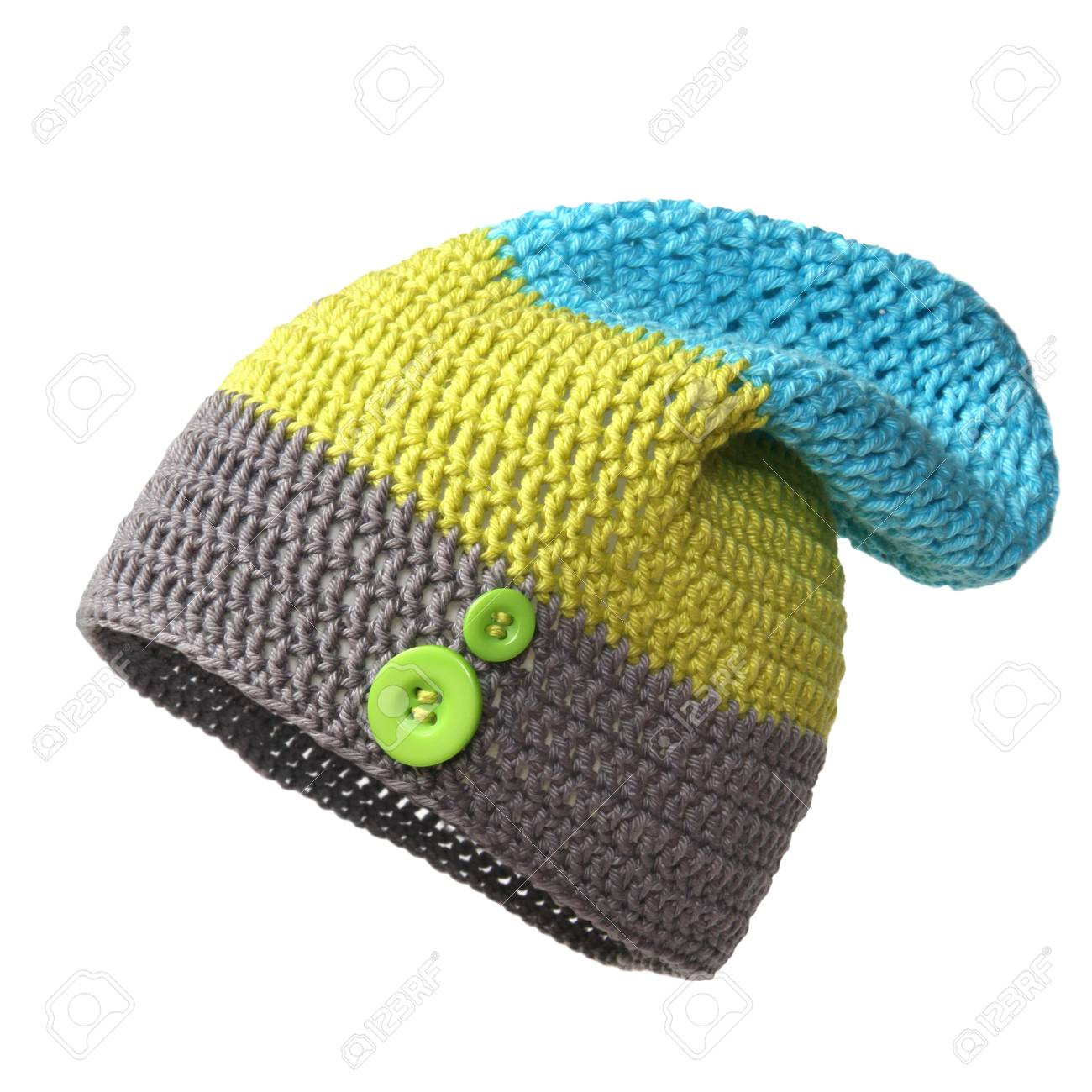 b6069345 Crocheted Hat Isolated On White Background Stock Photo, Picture And ...