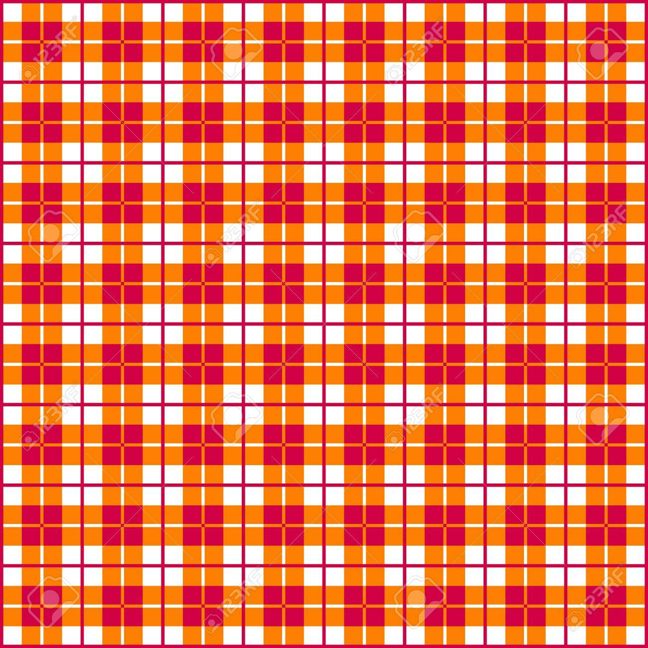 Old fashioned gingham check pattern in red   orange for scrapbooks, restaurants, fabrics, arts, crafts and decorating  Pattern swatch will seamlessly fill any shape Stock Vector - 16299110