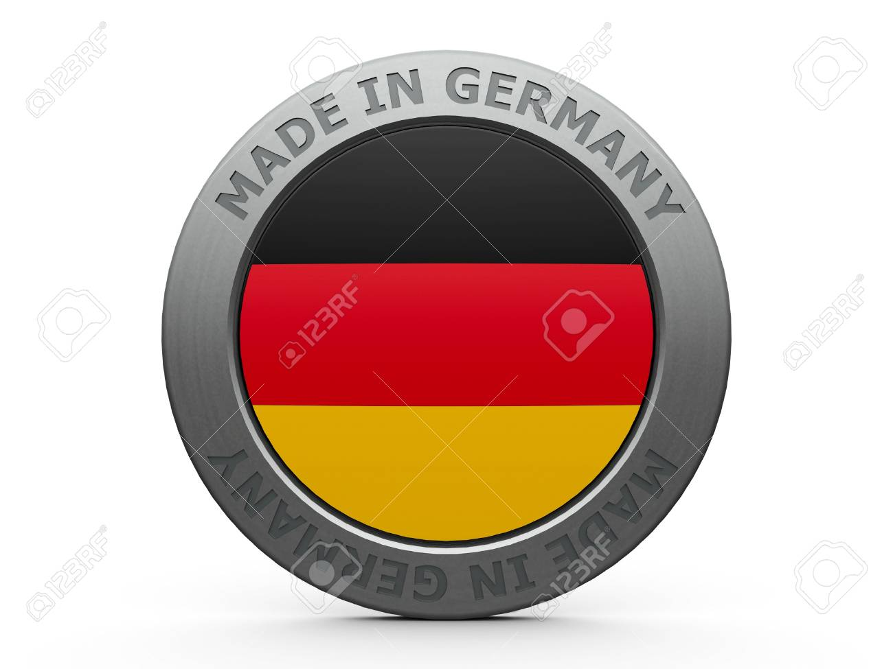 Emblem - made in Germany, three-dimensional rendering Stock Photo - 18560869