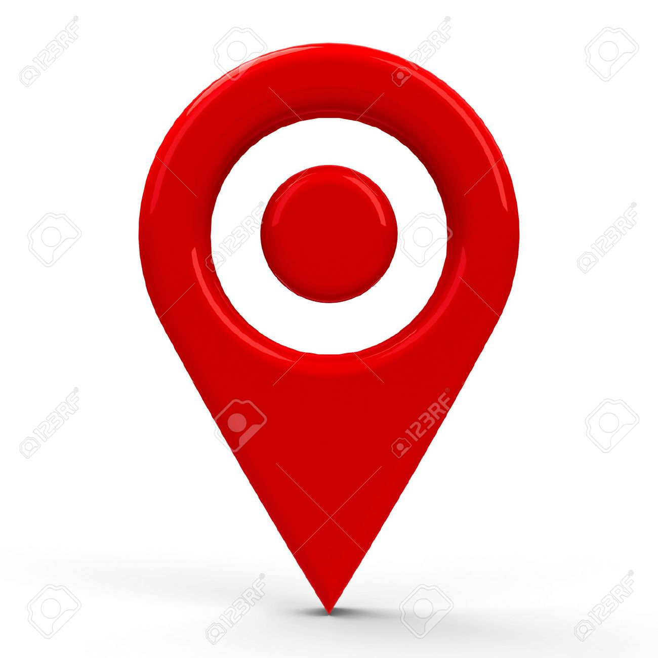 Red map pointer with dot in the middle isolated on white red map pointer with dot in the middle isolated on white background three dimensional buycottarizona