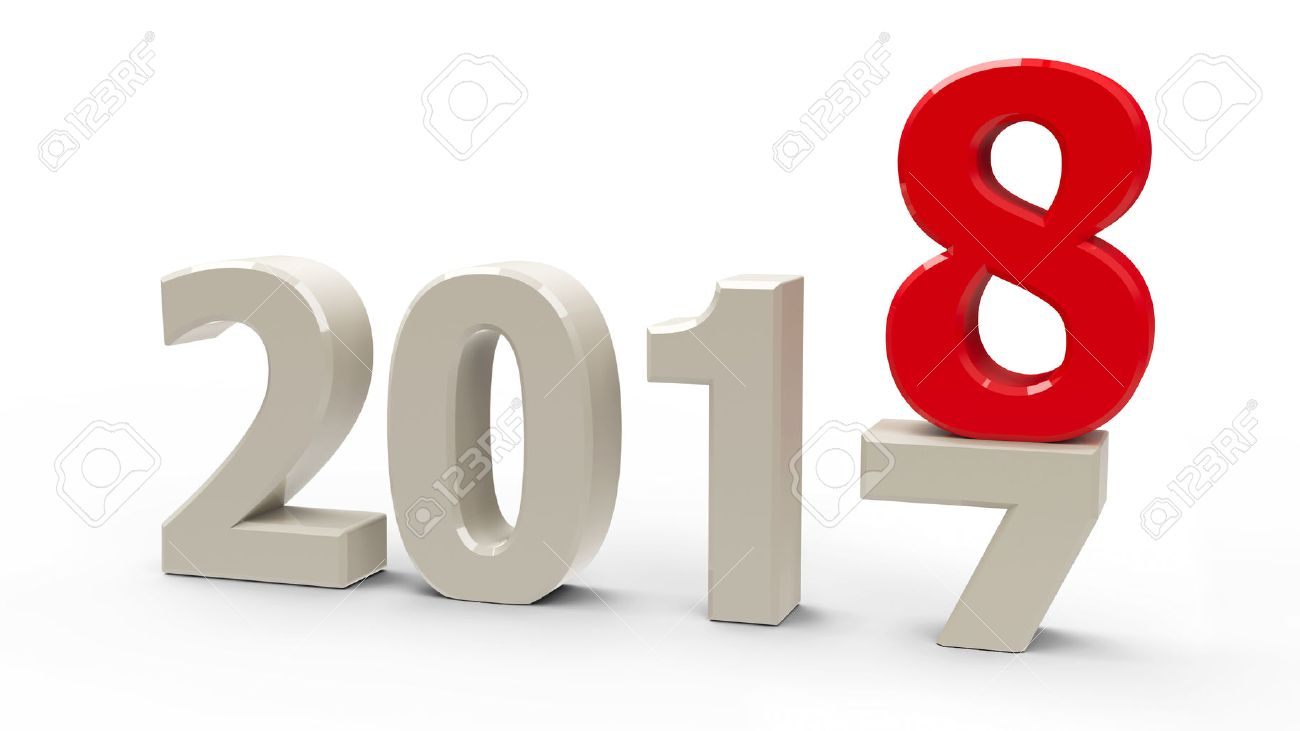 2017 2018 変更を表します新しい 2018 年 三次元レンダリング 3 d