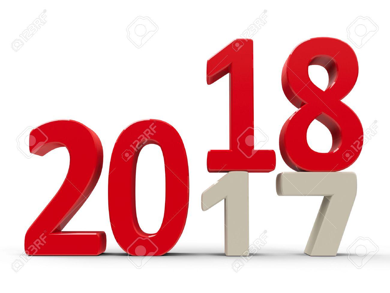 2017 2018 Veranderung Ist Das Neue Jahr Dreidimensionale Wiedergabe 3D Darstellung