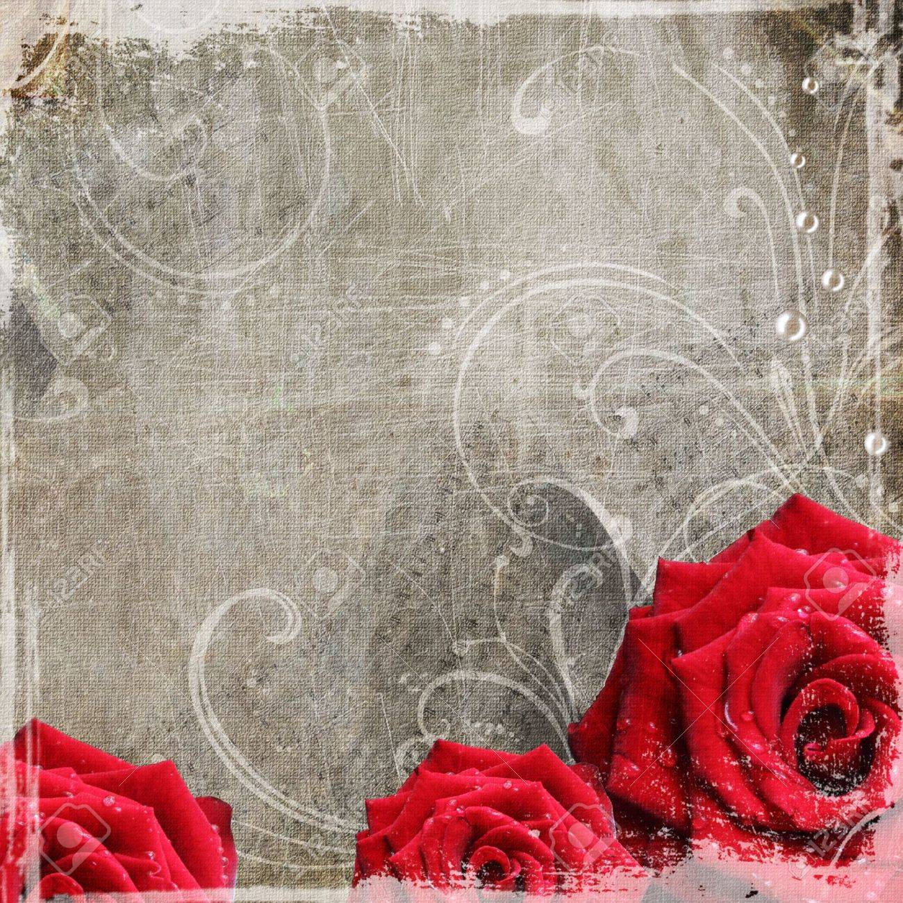Old decorative frame with flowers and pearls Stock Photo - 9292541