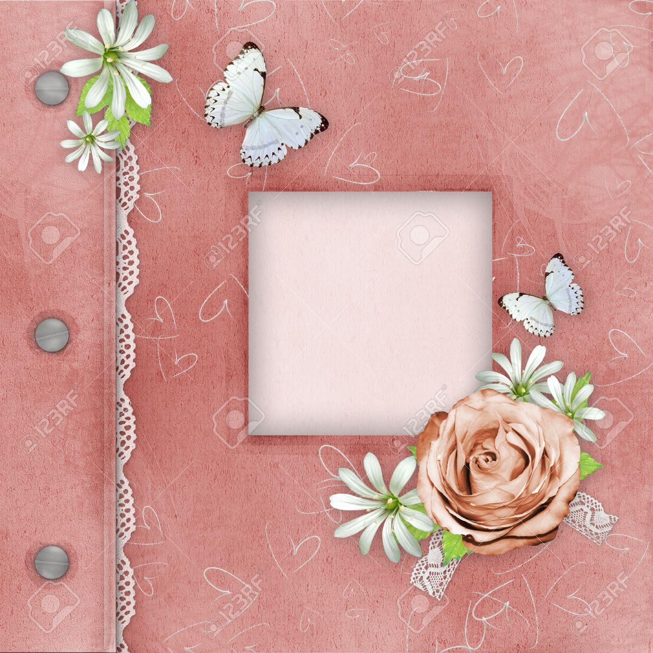 Cover Of Pink Album Mit Rahmen Für Foto Lizenzfreie Fotos, Bilder ...