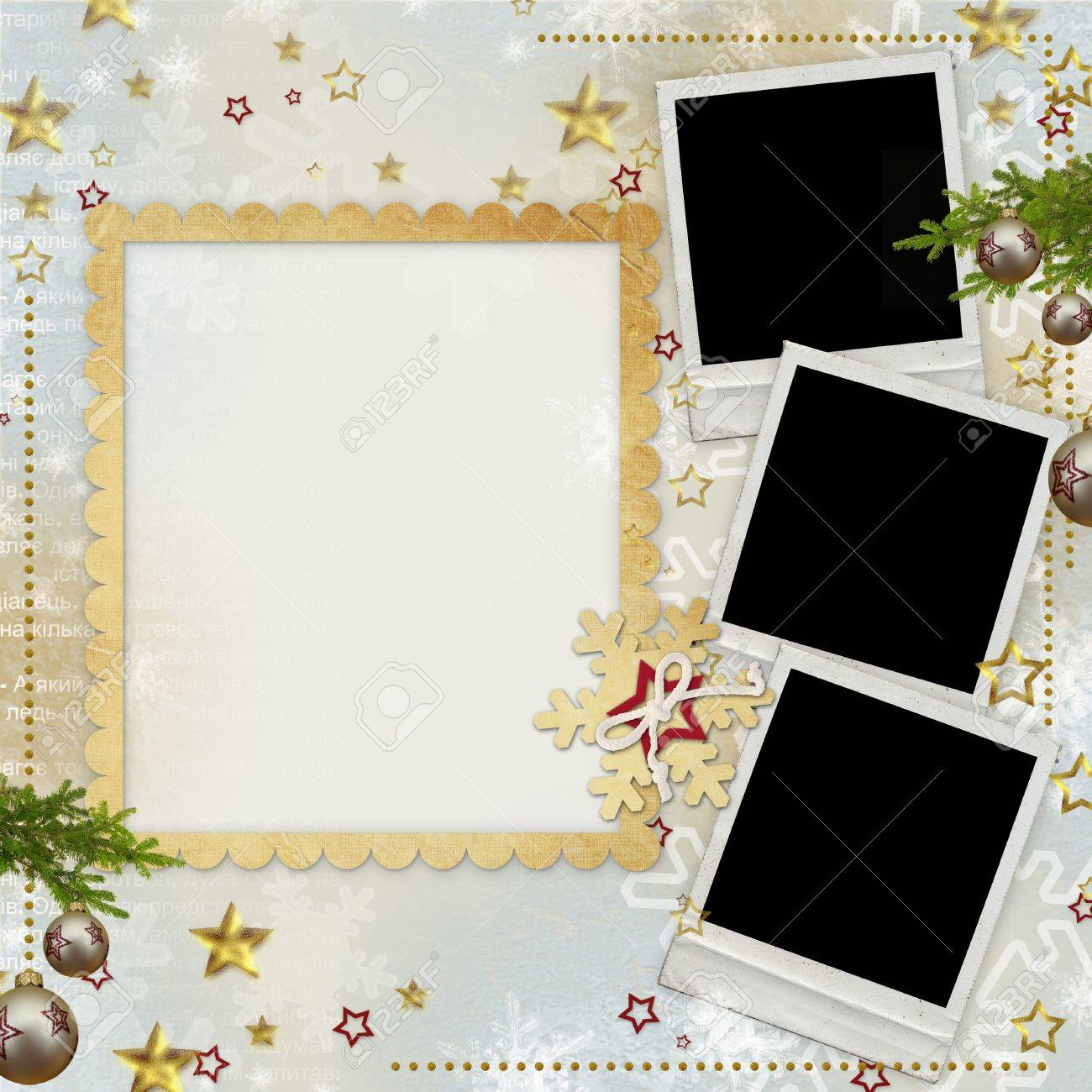 old Christmas greeting card Stock Photo - 14935238