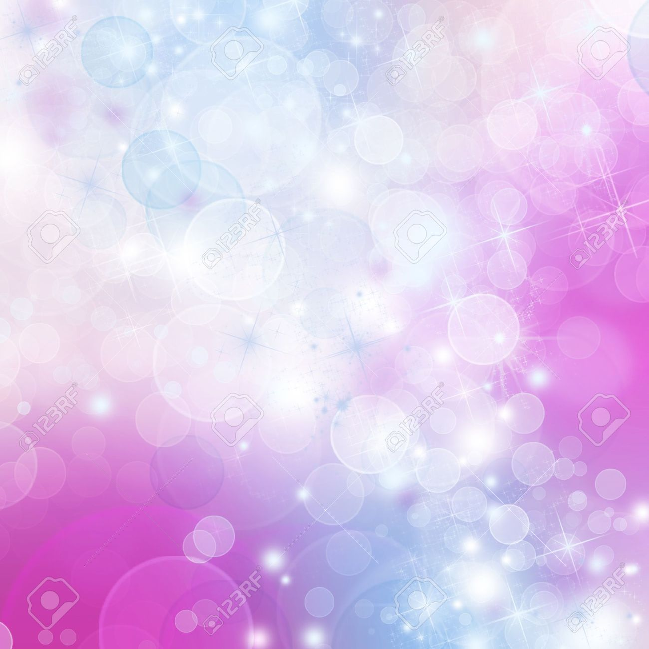 A bright background with blue, purple and pink bokeh effects Stock Photo - 20516689