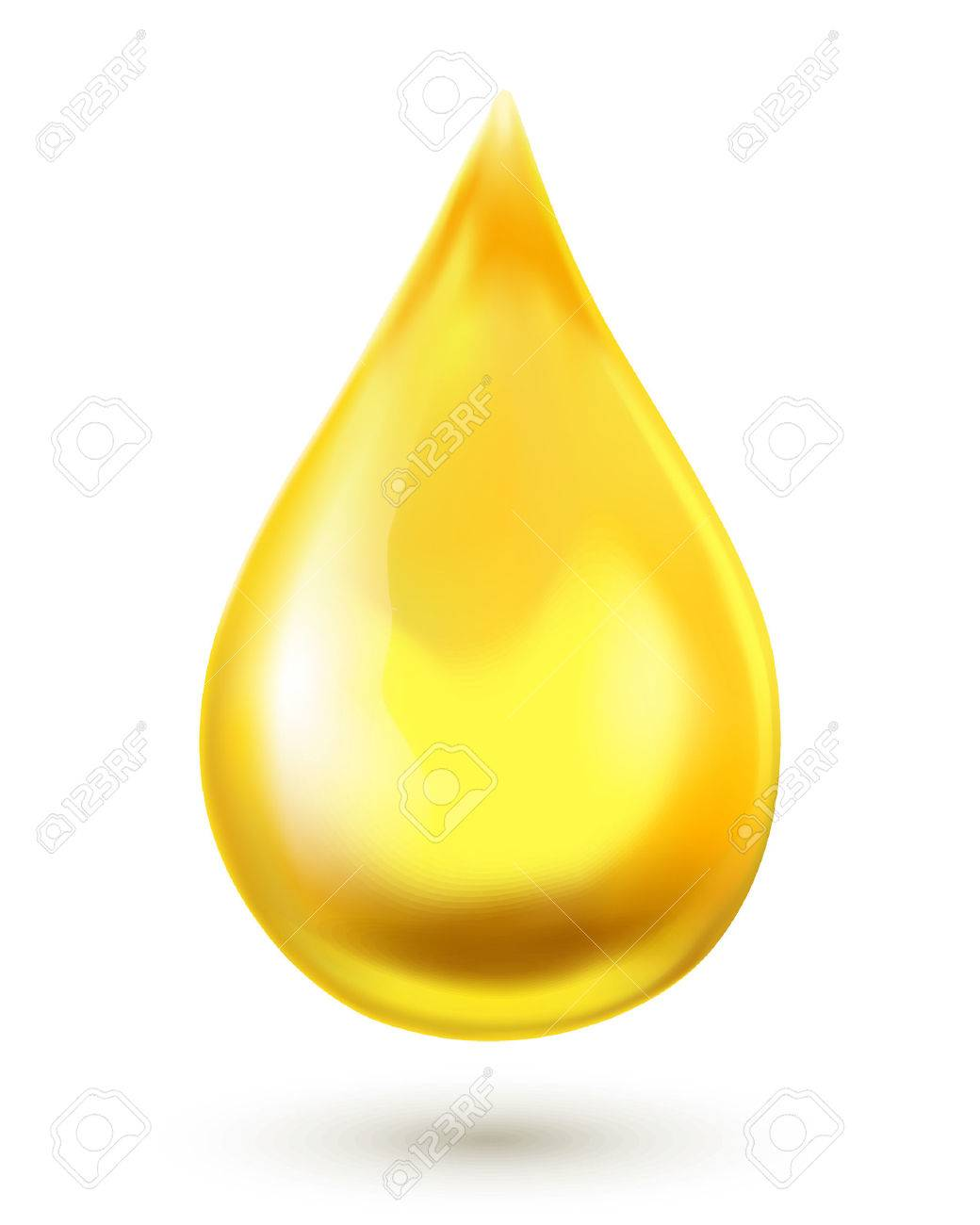 Oil drop isolated on white background - 41773212