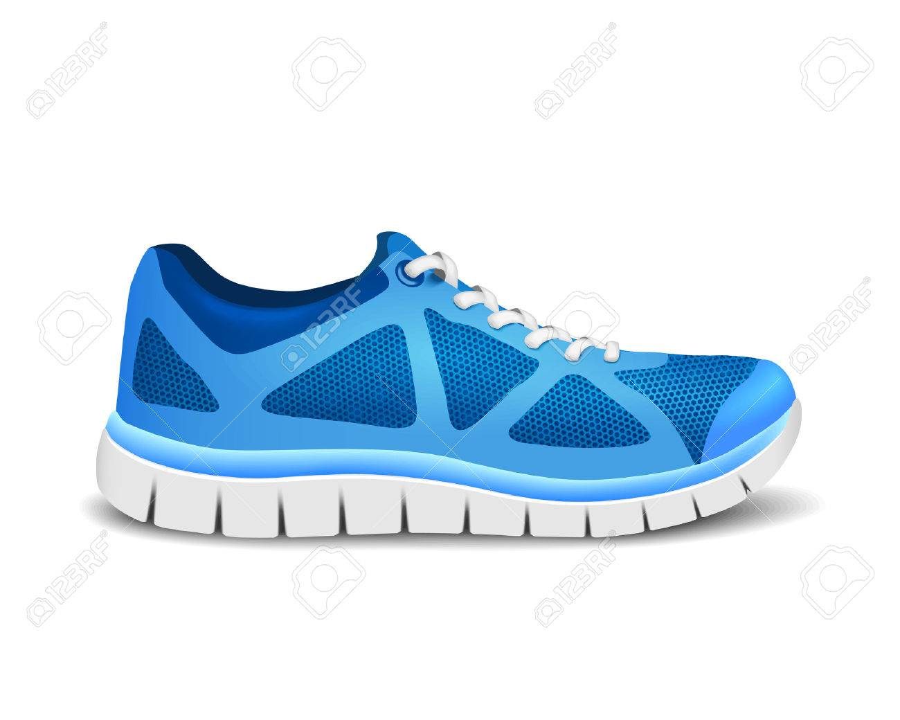 Blue sport shoes for running - 42018769