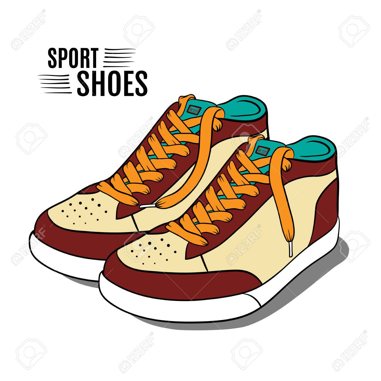 cartoon sport shoes vector illustration royalty free cliparts