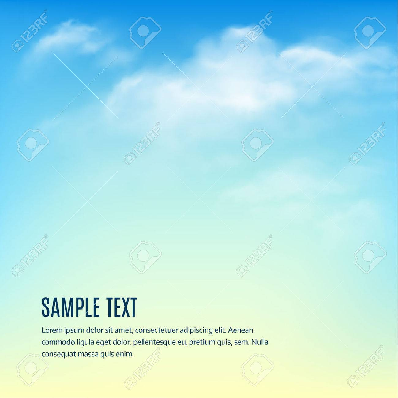 Blue sky with clouds. Vector background Stock Vector - 45776482