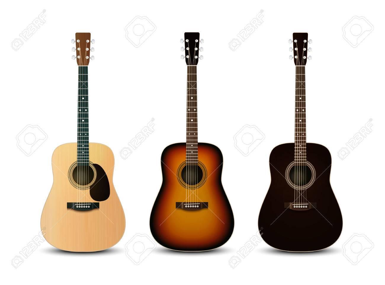 realistic acoustic guitars vector set royalty free cliparts rh 123rf com acoustic guitar vector icon acoustic guitar vector icon