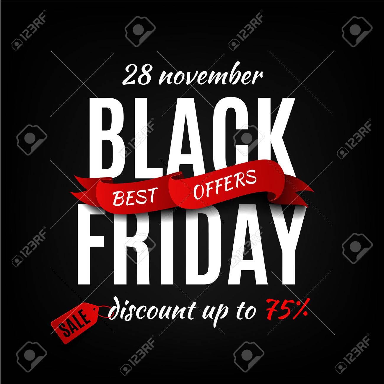 Black friday sale design template. Black friday banner - 47647812