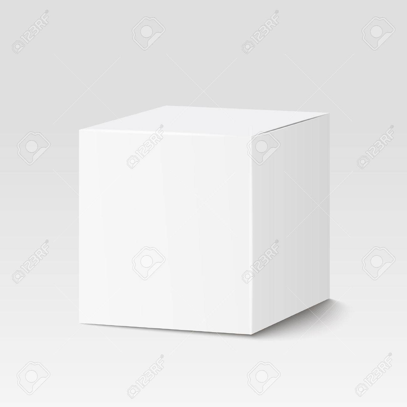 Vierkante Witte Box.White Square Box Container Packaging Royalty Free Cliparts