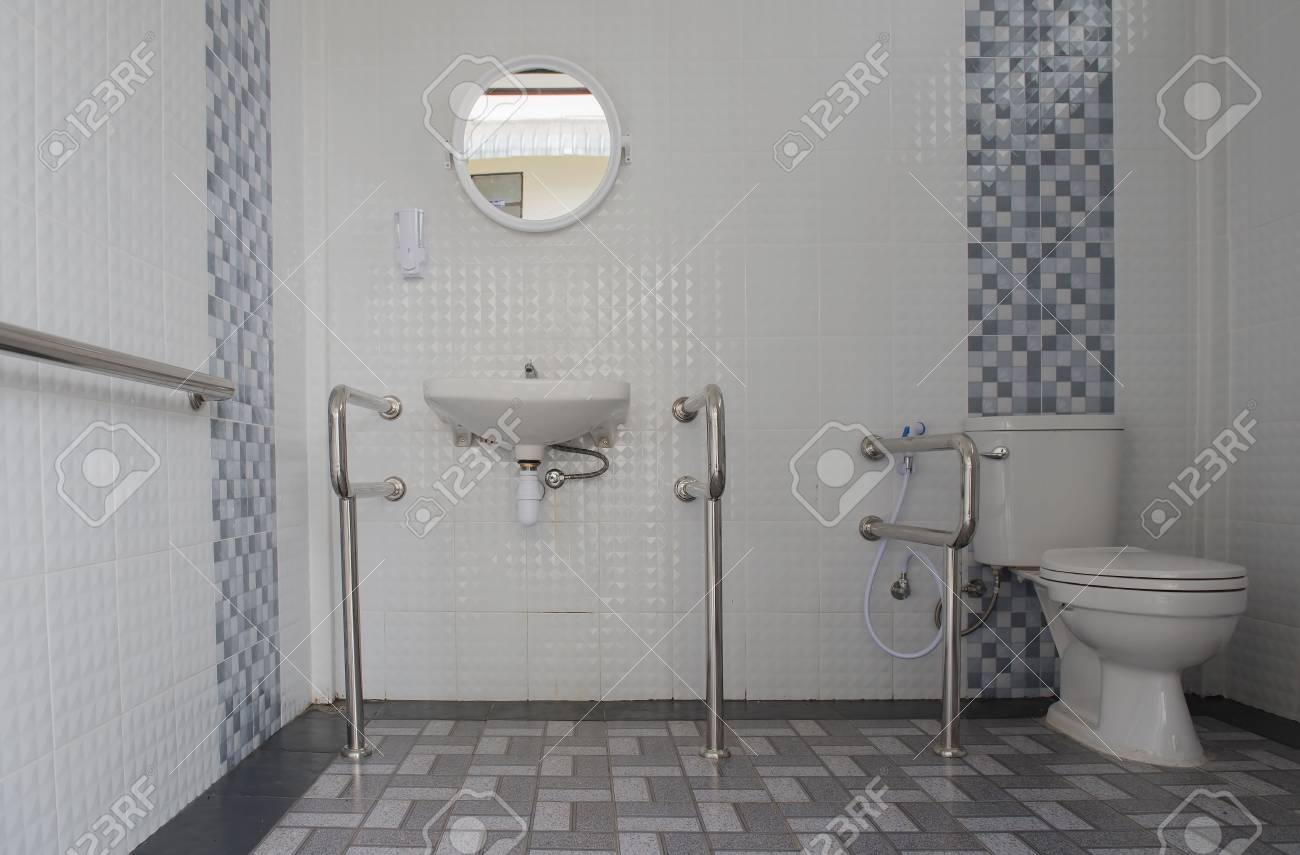 Interior Of Modern Toilet Bowl In Bathroom Lizenzfreie Fotos