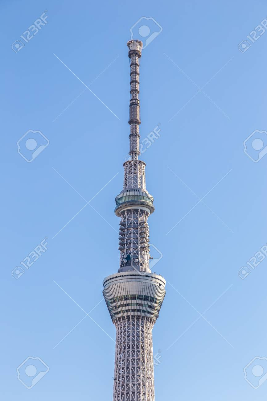 Skytree tower in Tokyo, Japan  The 634m tall broadcasting tower