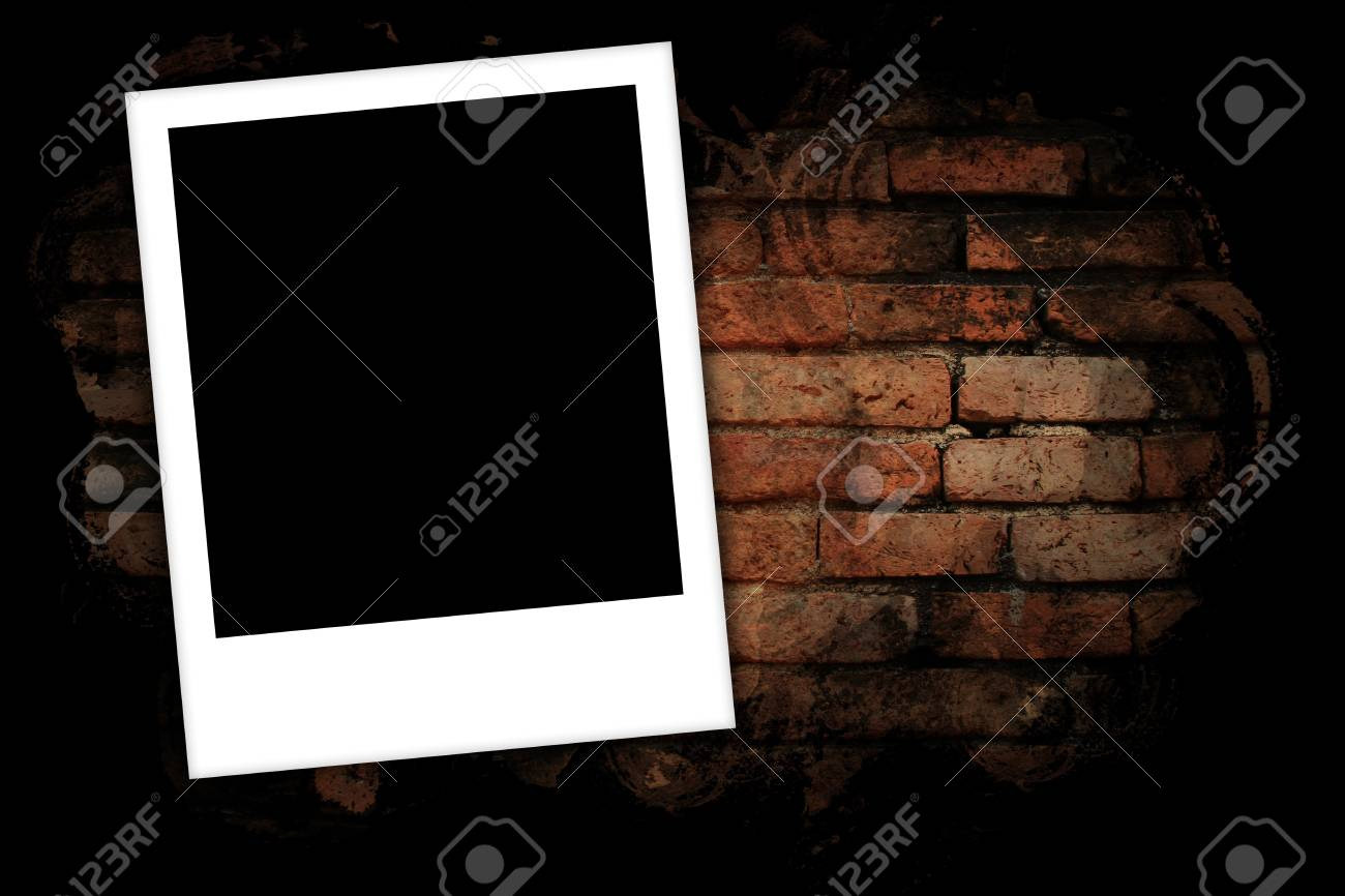 Photo frames on brick wall background Stock Photo - 17563710
