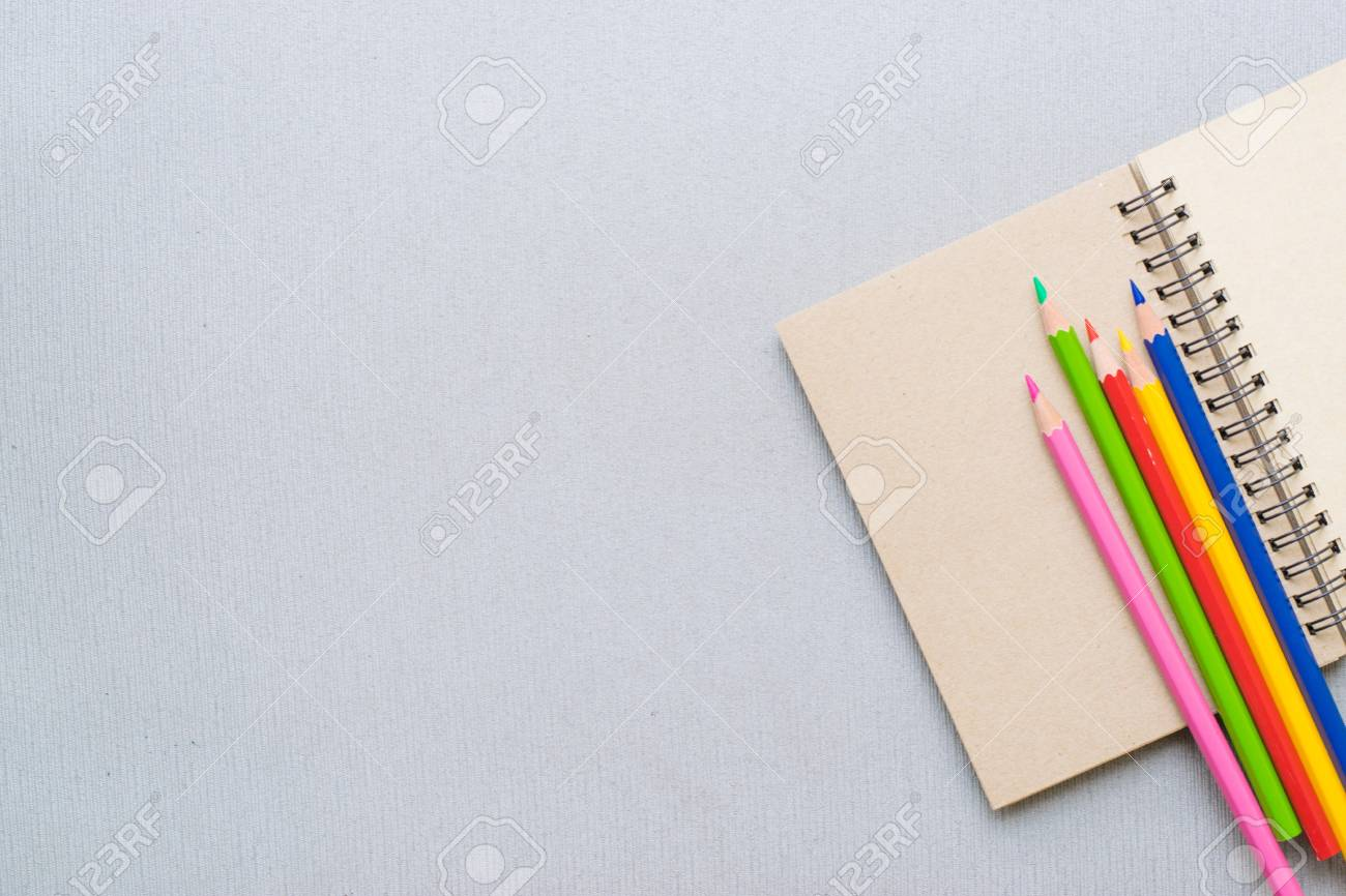 Notepad With Pencil On Wood Board Background Using Wallpaper Stock Photo Picture And Royalty Free Image Image 83940108