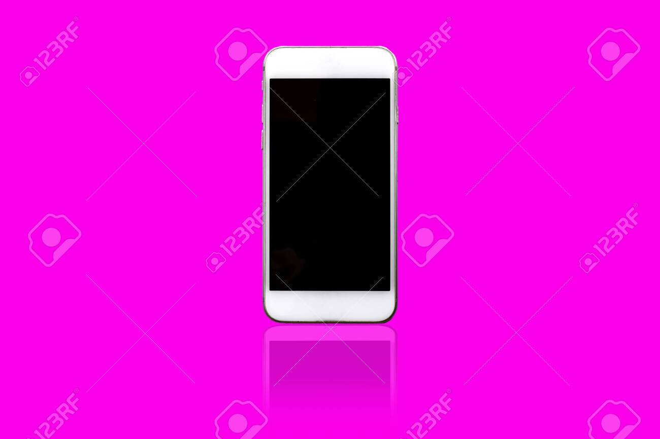 smart phone on isolated background using wallpaper for electronicproduct
