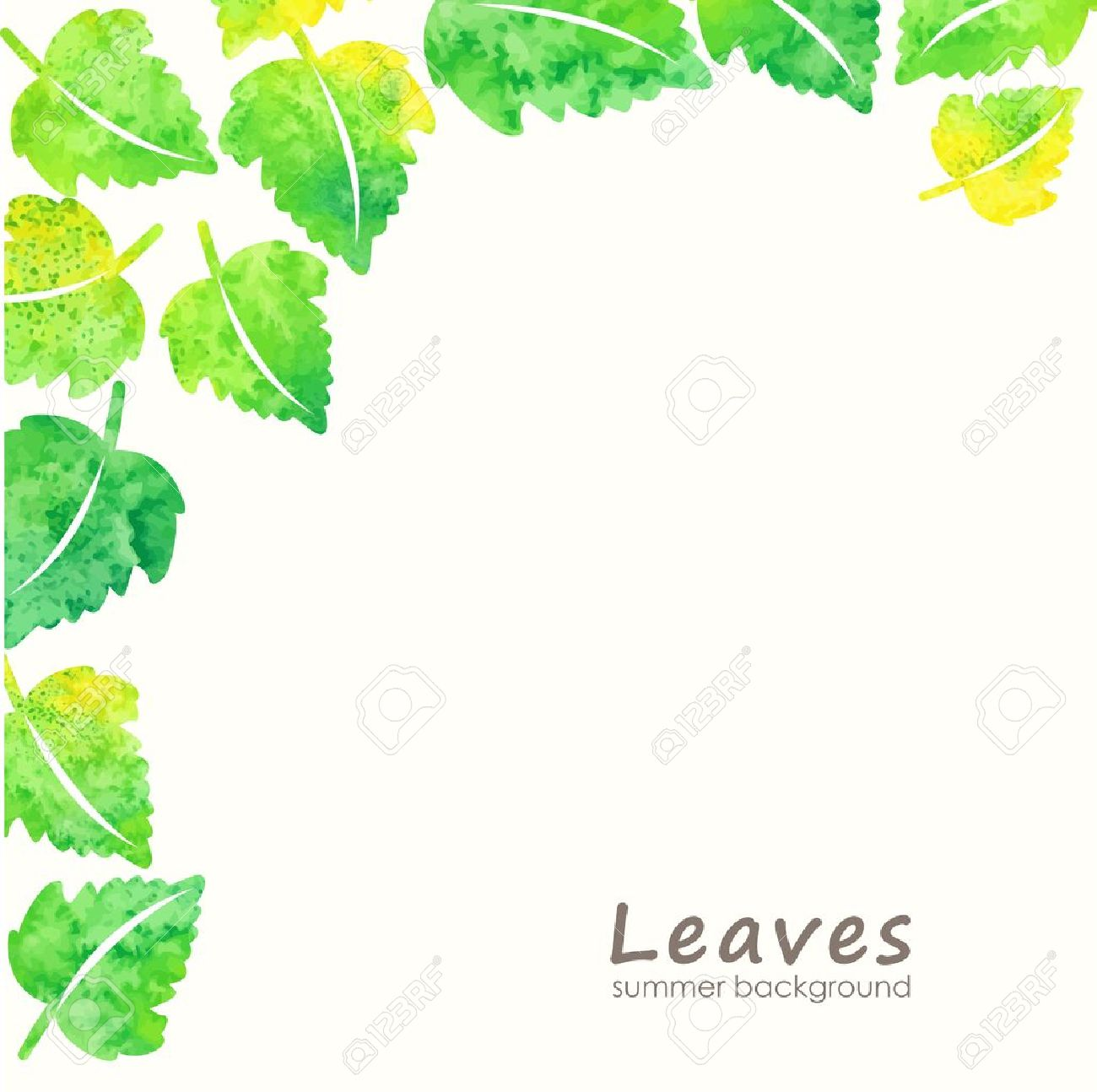 green leaves background eco design template royalty free cliparts