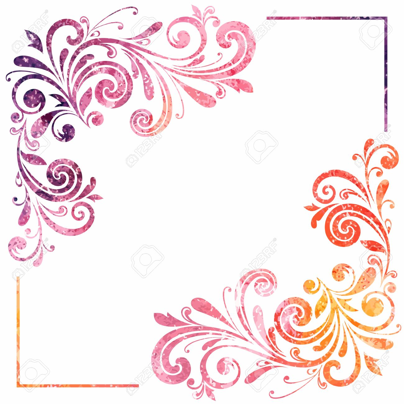 Vintage Artistic Frame Vector Watercolor Background Royalty Free ...