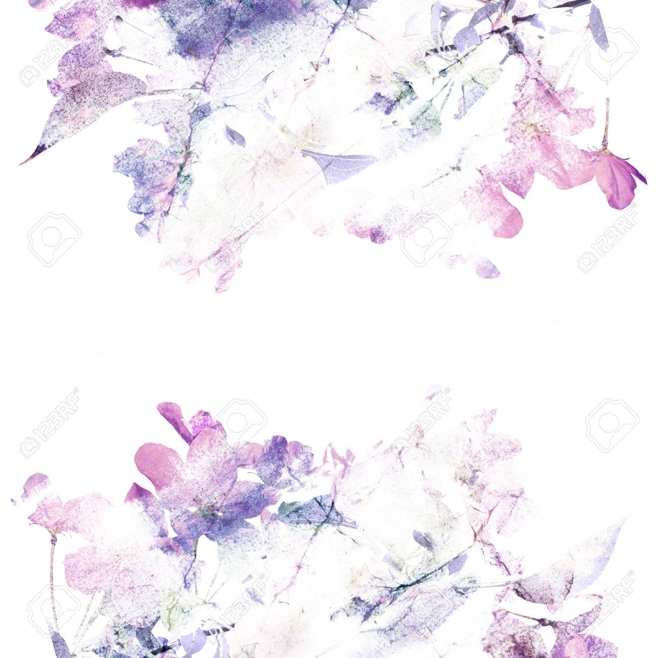 Floral Background Roses Watercolor Floral Bouquet Birthday Stock