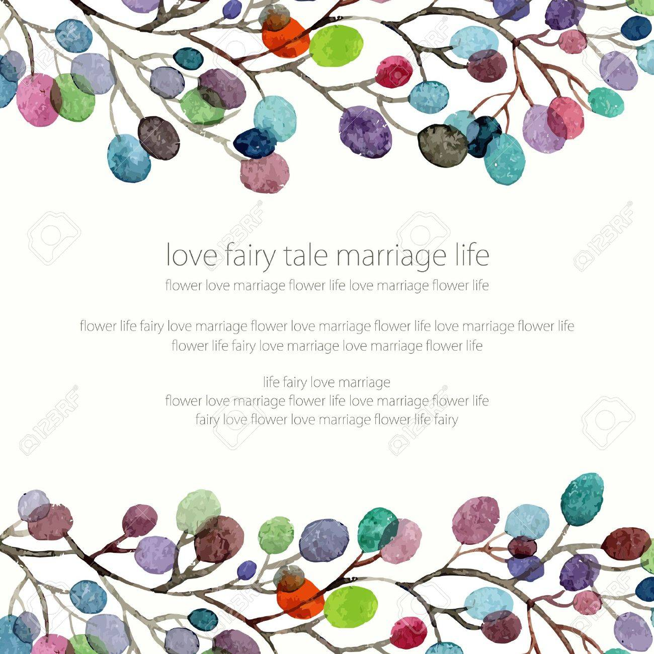 Invitation wedding or birthday card floral frame watercolor invitation wedding or birthday card floral frame watercolor background with flowers imagens stopboris Images