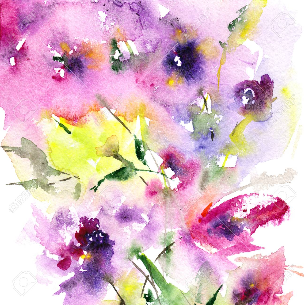 Floral background watercolor floral background greeting card floral background watercolor floral background greeting card wedding invitation template floral card mightylinksfo