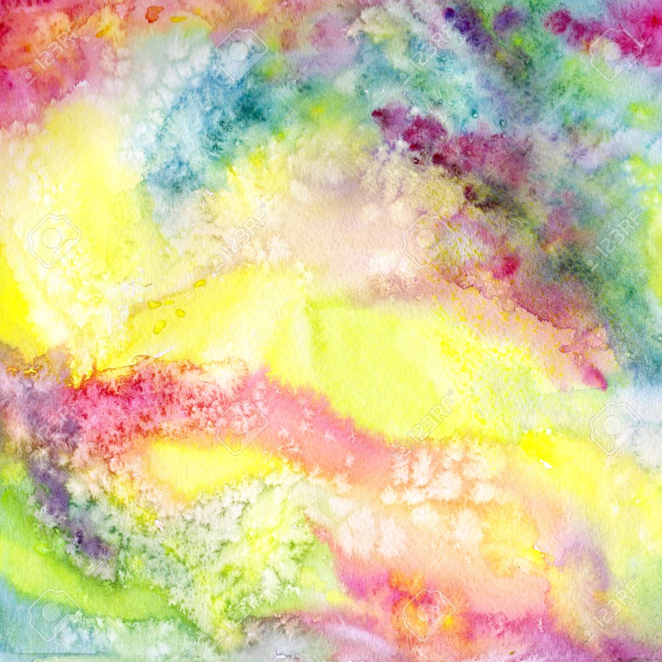 Multicolor Abstract Background. Watercolor Art Background With ...