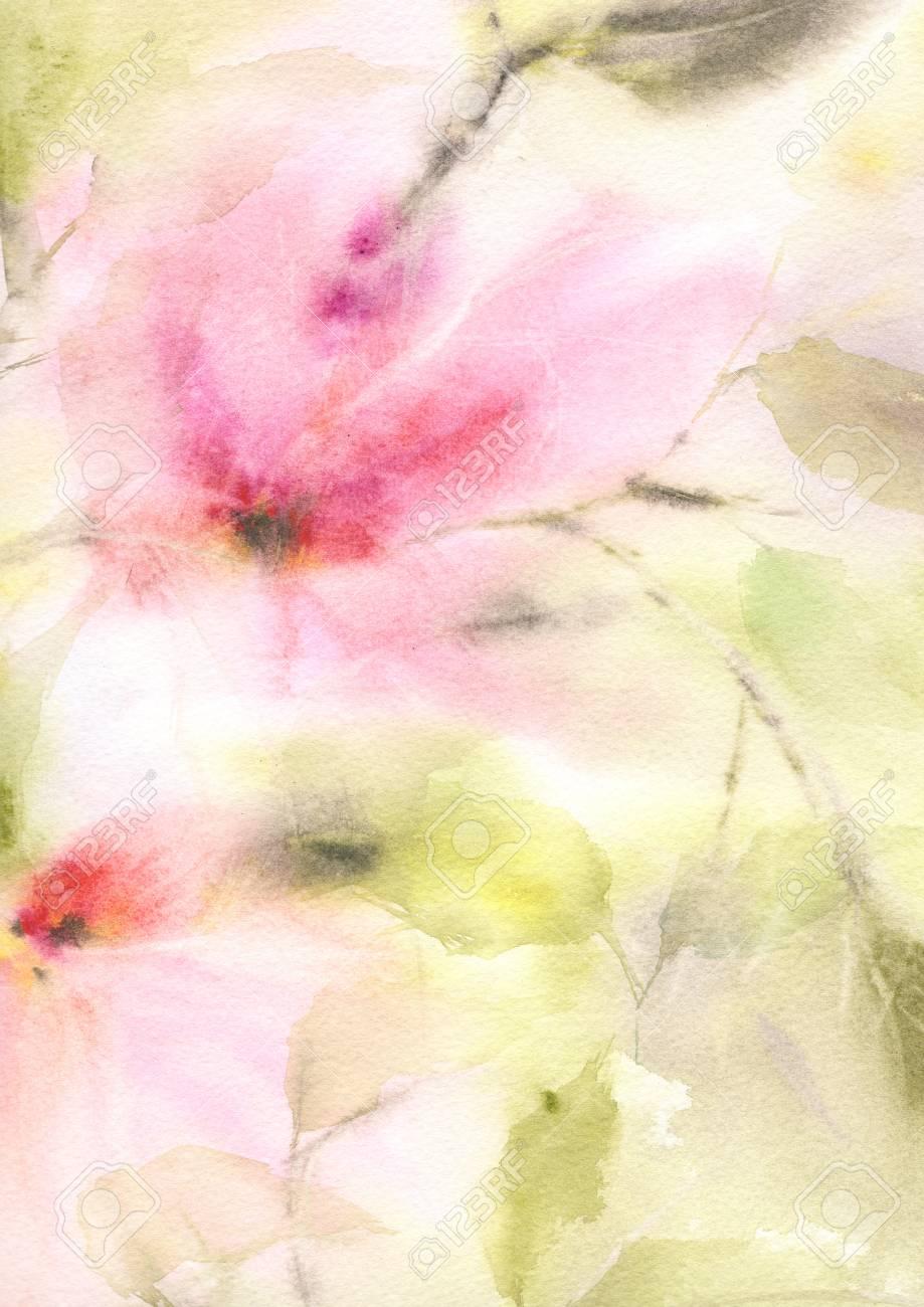 Blumen Hintergrund Aquarell Blumen Hintergrund Grusskarte