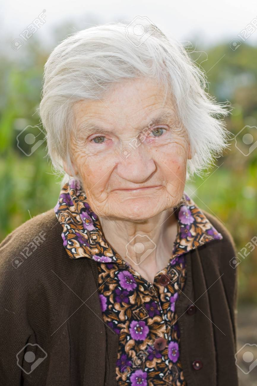 Old happy woman in the garden Stock Photo - 6667317