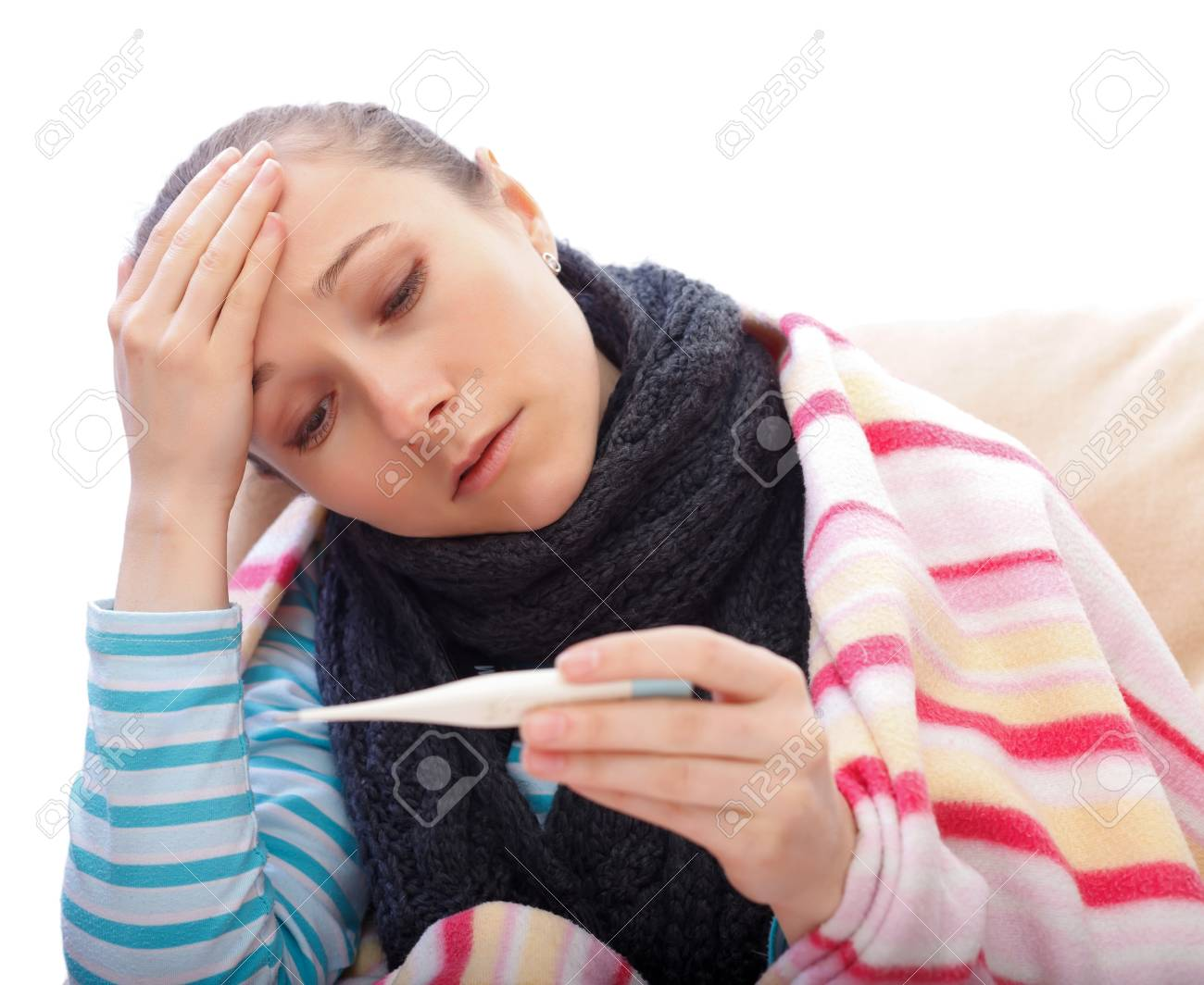 Young woman suffering from the influenza and feel unwell Stock Photo - 18715141