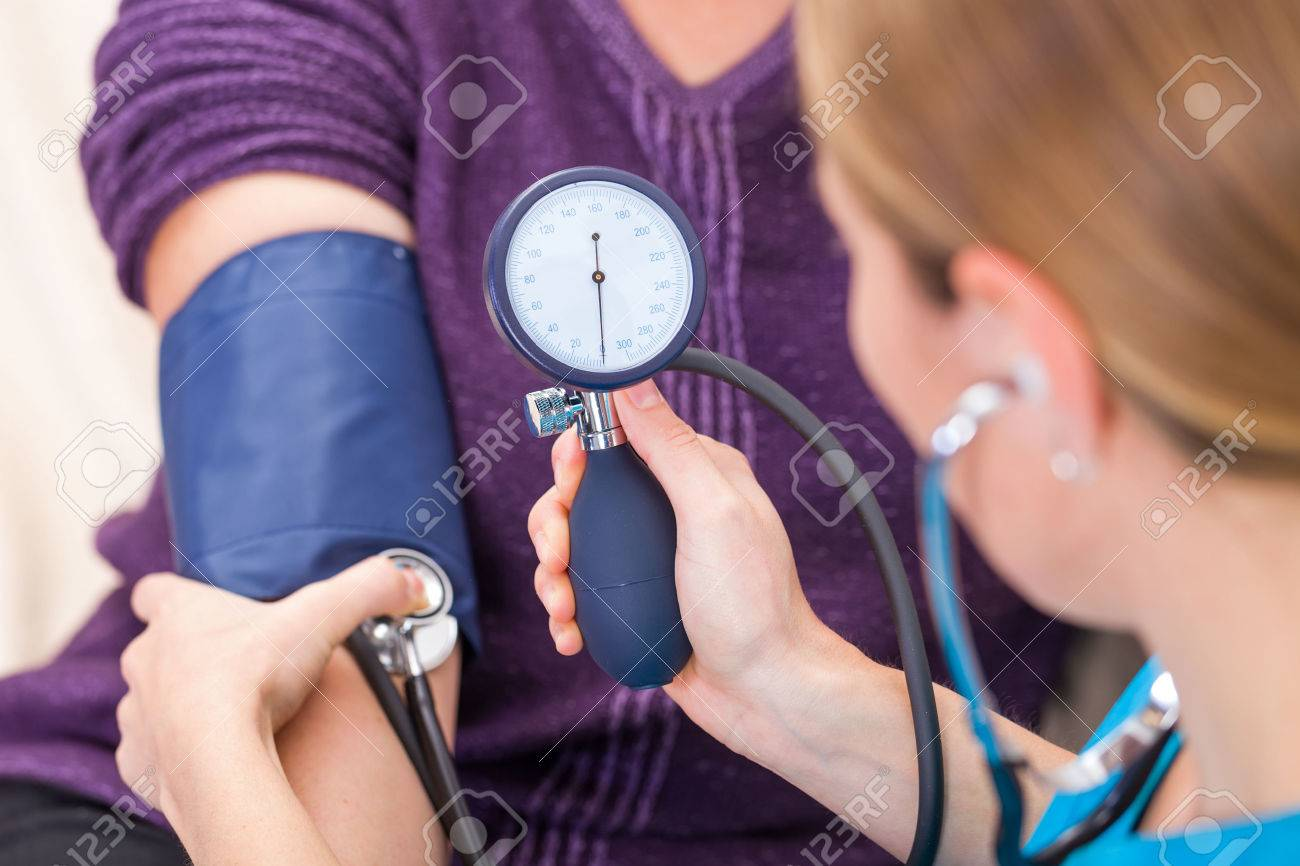 Close up photo of blood pressure measurement Standard-Bild - 37013637