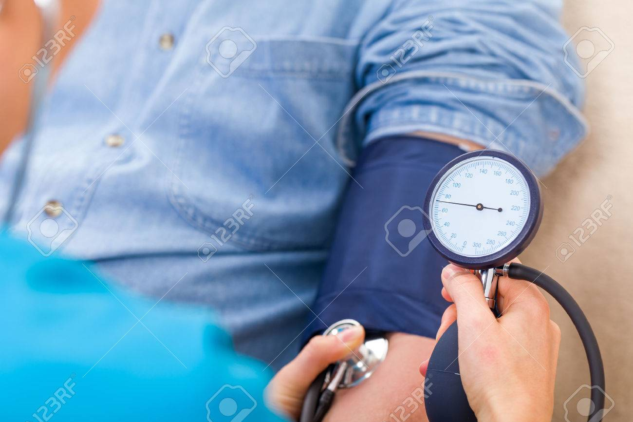 Close up photo of blood pressure measurement - 52956886