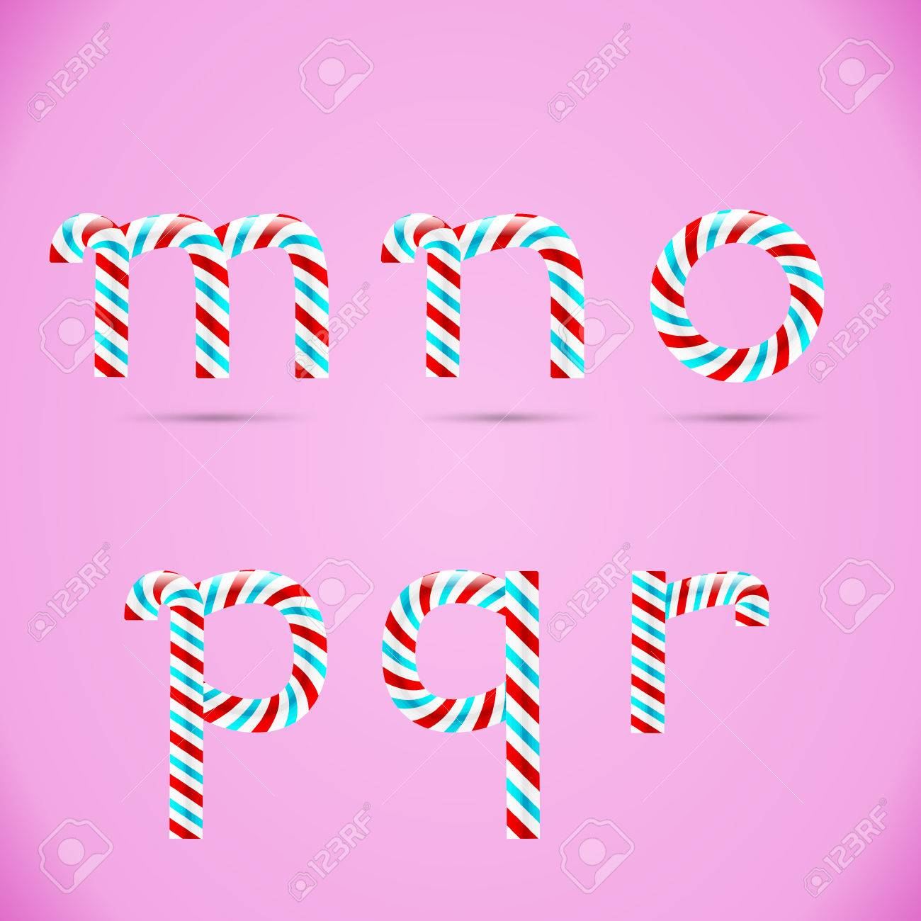 Candy Letters Sweet Vector Alphabet