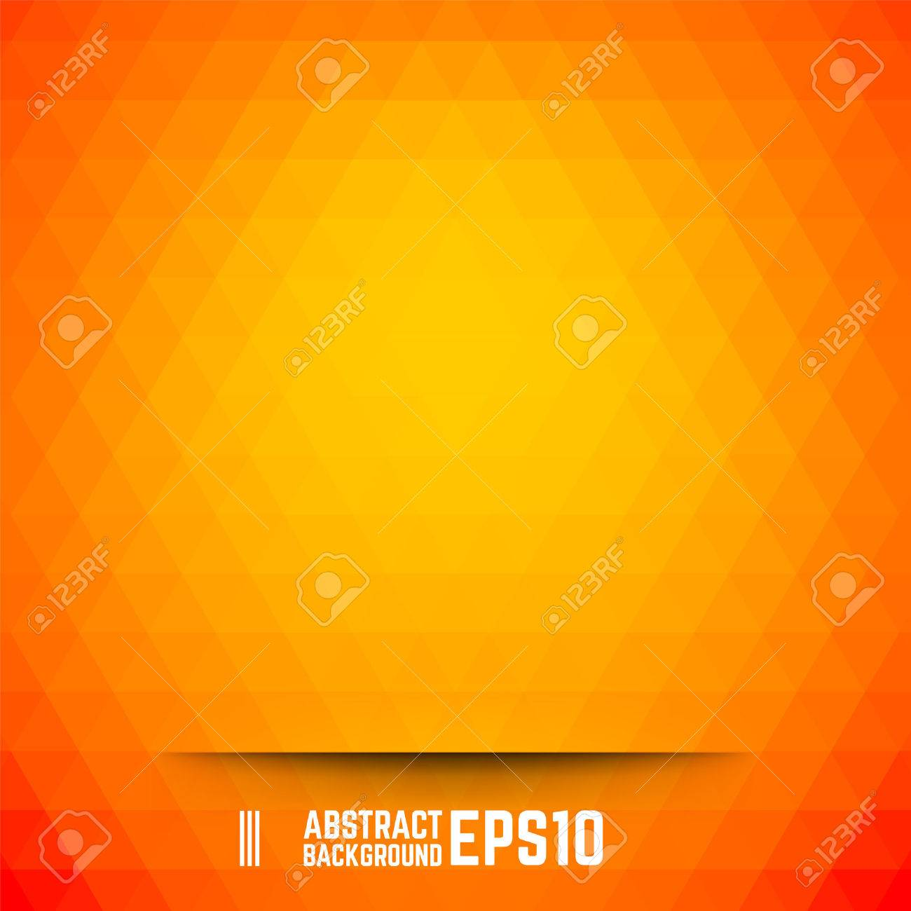 Orange abstract triangle background. Vector illustration. - 42810915