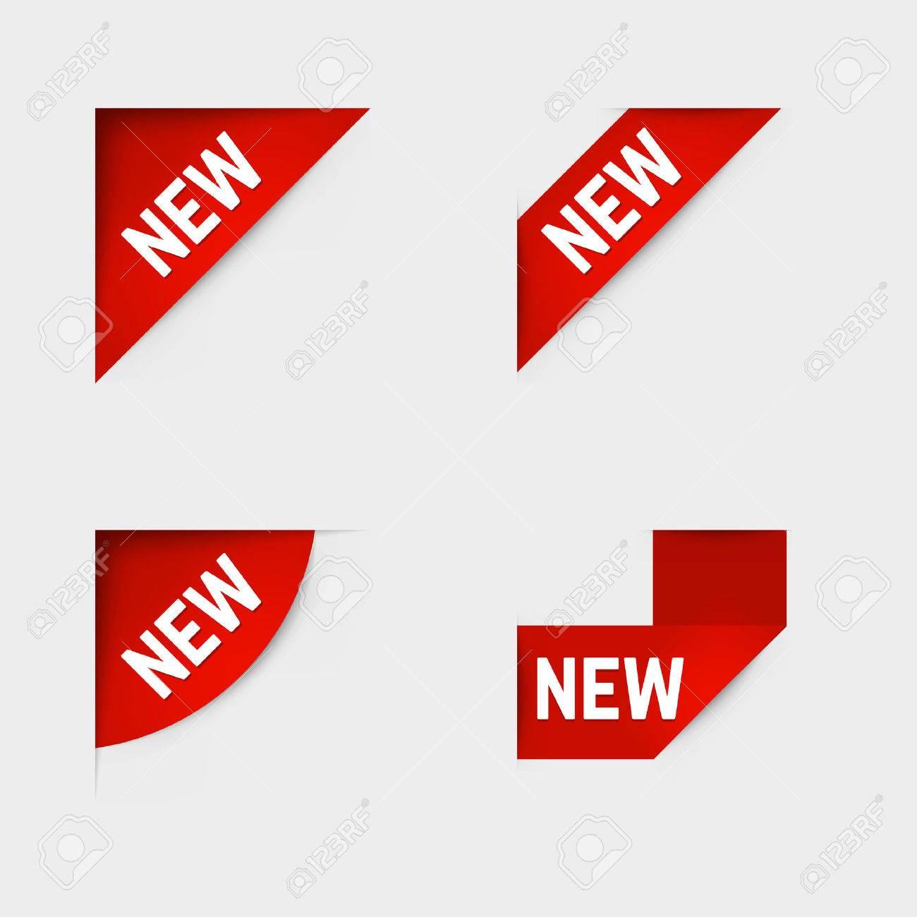 Red corner new labels. - 43647214