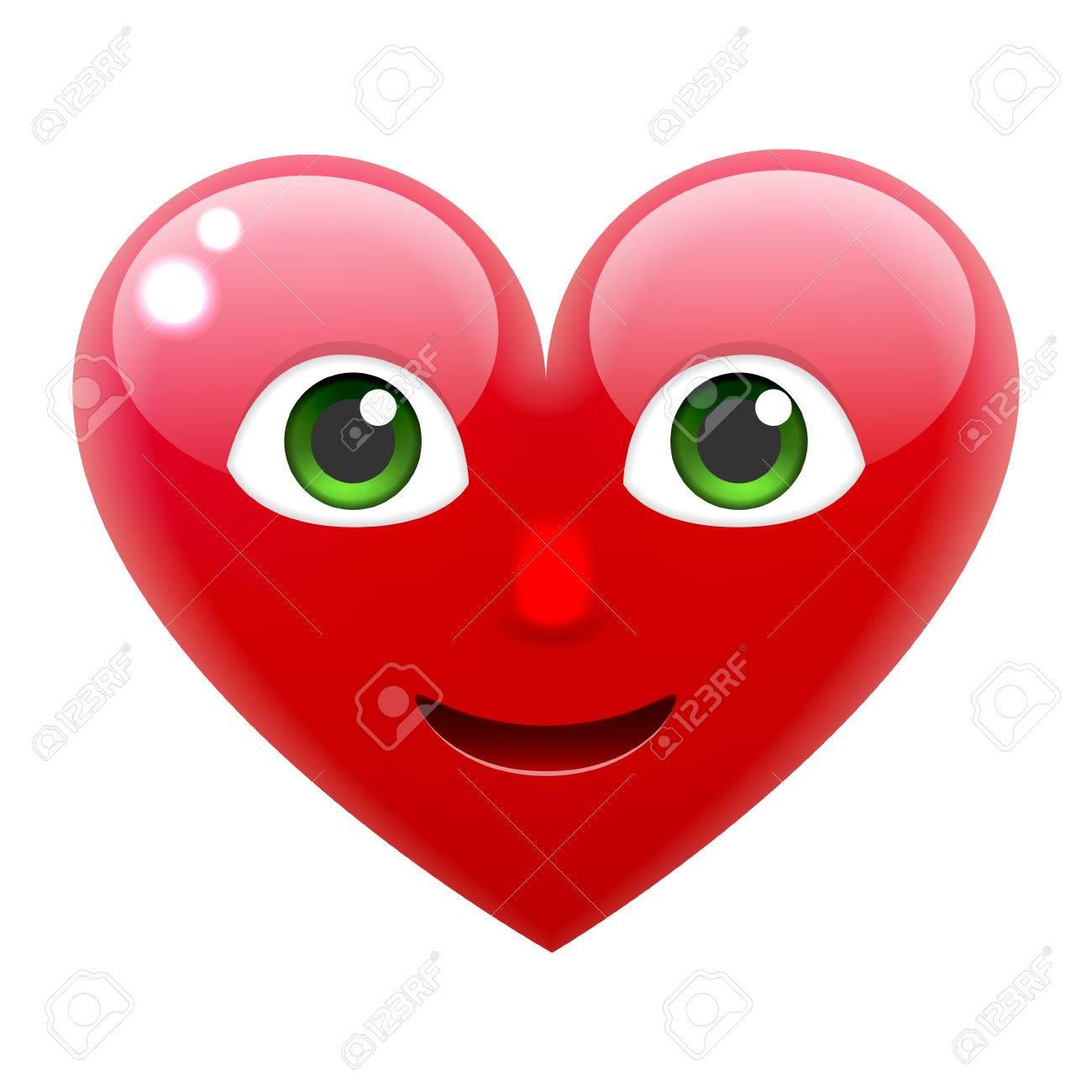 Herz Lacheln Emoticon Herz Emoji Fur Den 14 Februar Fur Den