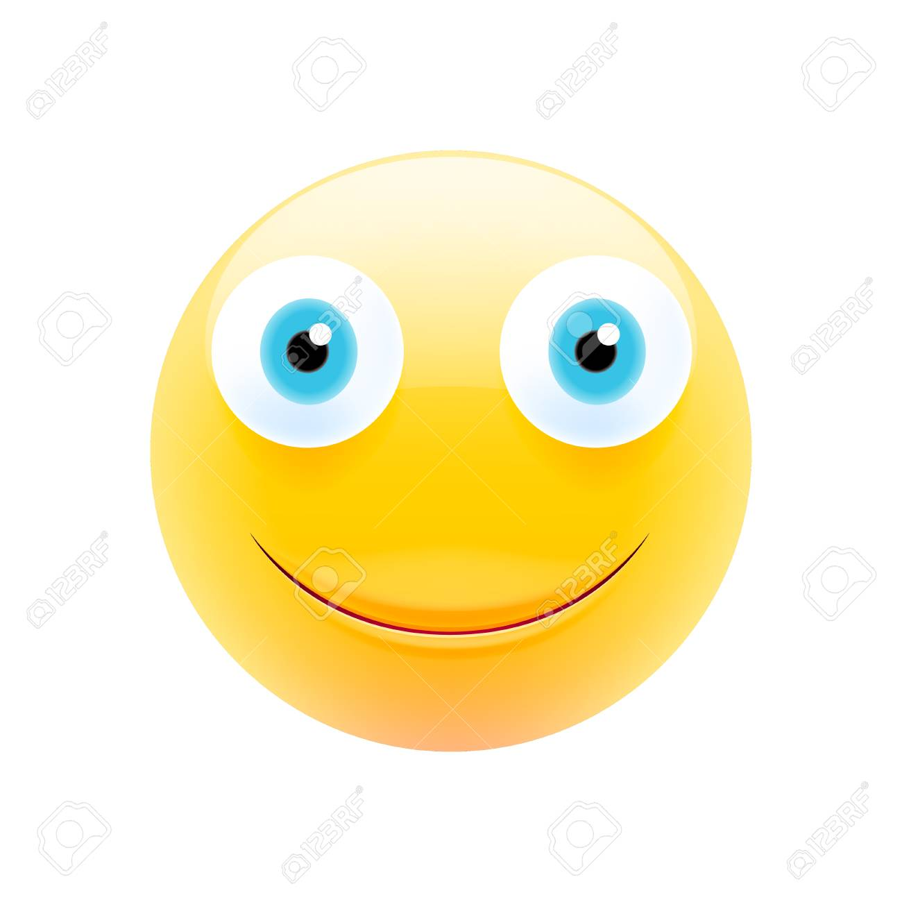 Smiling Face Emoji Happy Emoticon Laughing Tears Smile Icon Isolated Vector