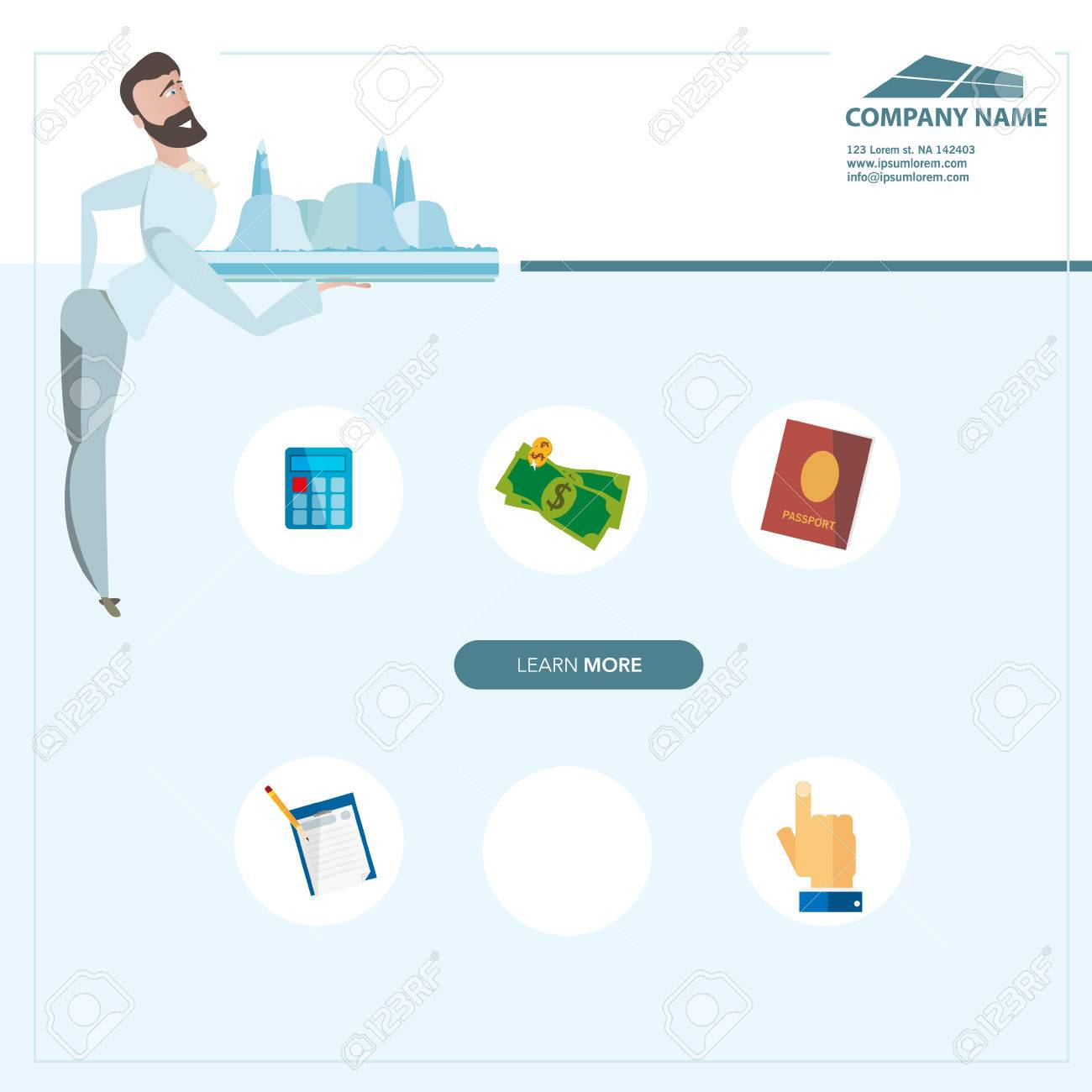 Creative Landing Page Web Site Design Vector Illustration Can Be Use For Travel Agency Advertising