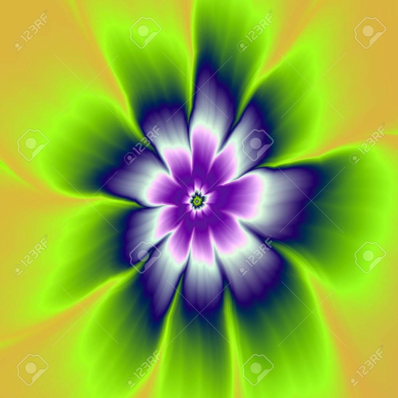 banque dimages bleu et violet fleur de marguerite une image abstraite de fractale numrique avec un design de fleur de marguerite en bleu violet vert - Vert Et Violet