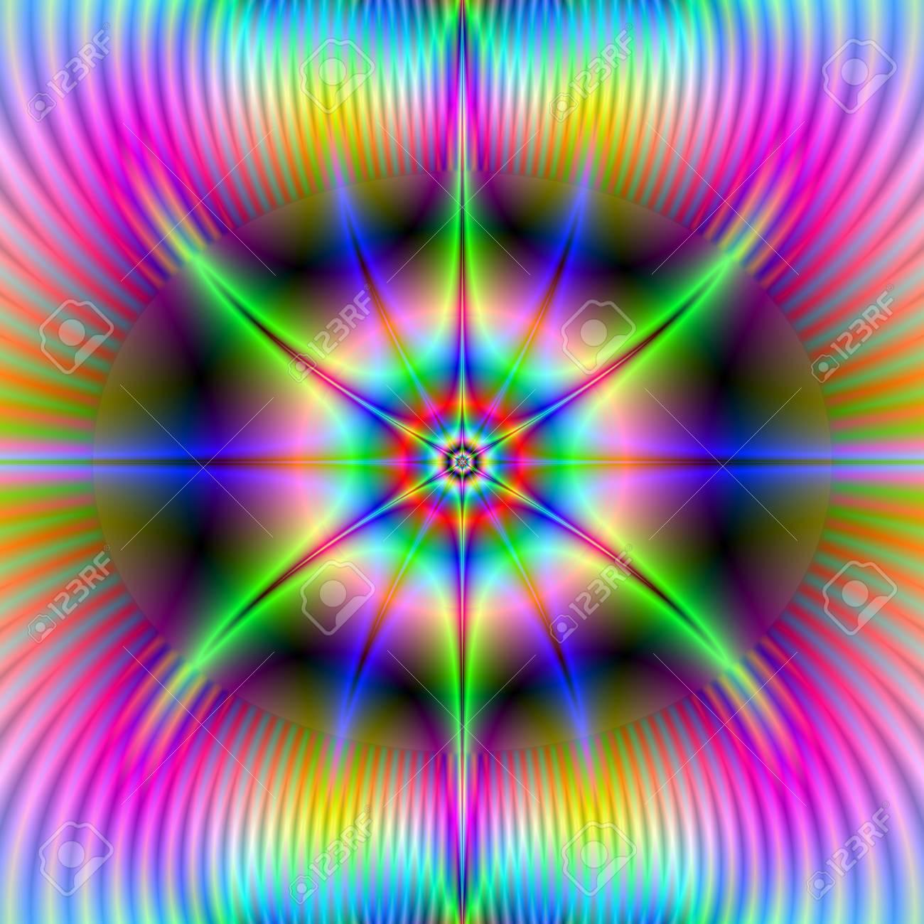 Astado Estrella Una Imagen Fractal Abstracto Digital Con Un Diseño ...