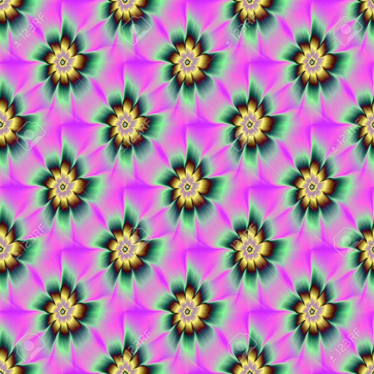 Seamless Or Et Vert De Fleur De Marguerite Une Image Abstraite De