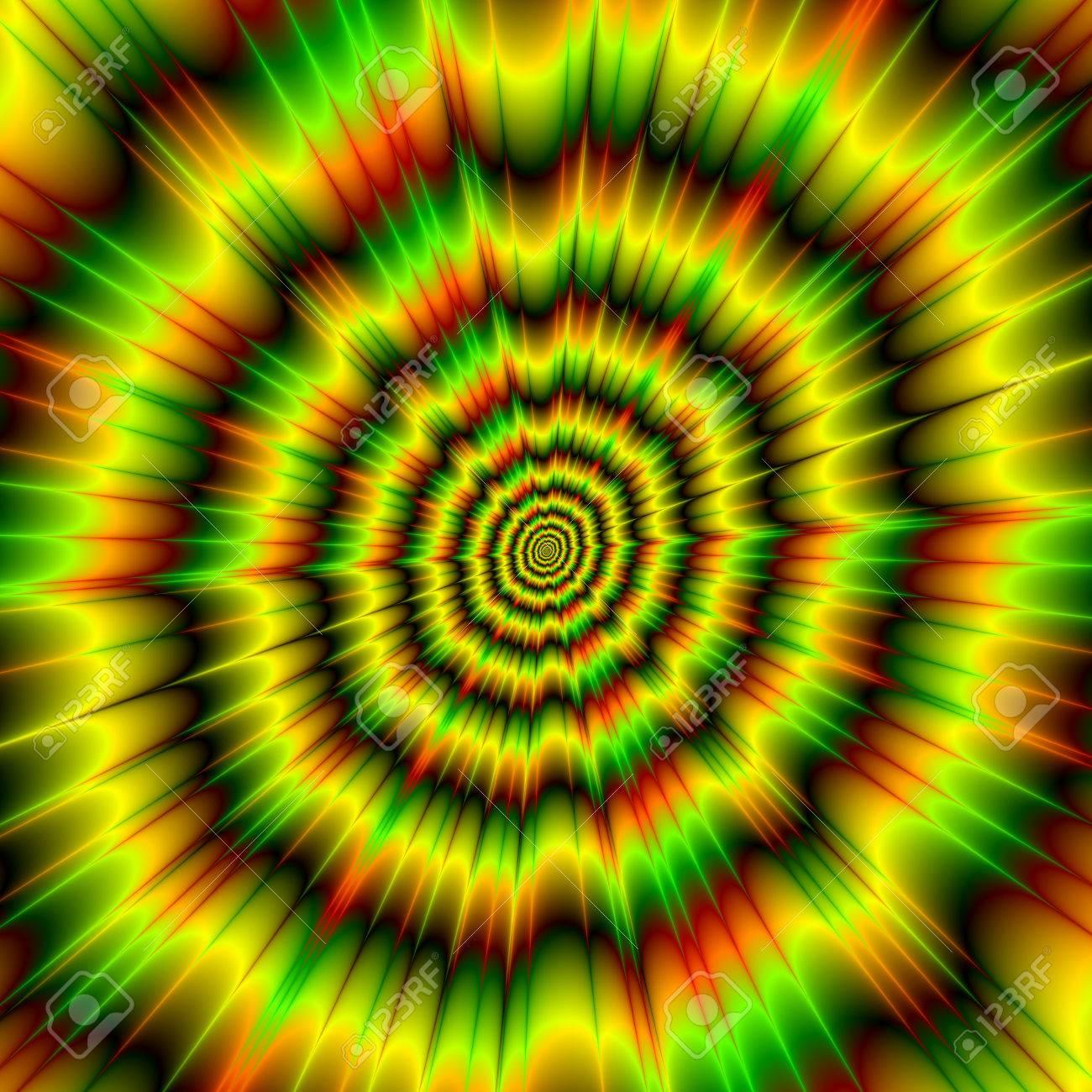 Una Imagen Abstracta Con Un Diseño Explosión De Color De Los Ojos ...