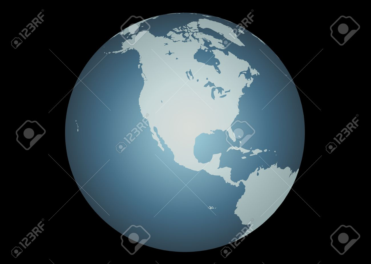 North America Vector Accurate Map Of North America Mapped - Globe of usa