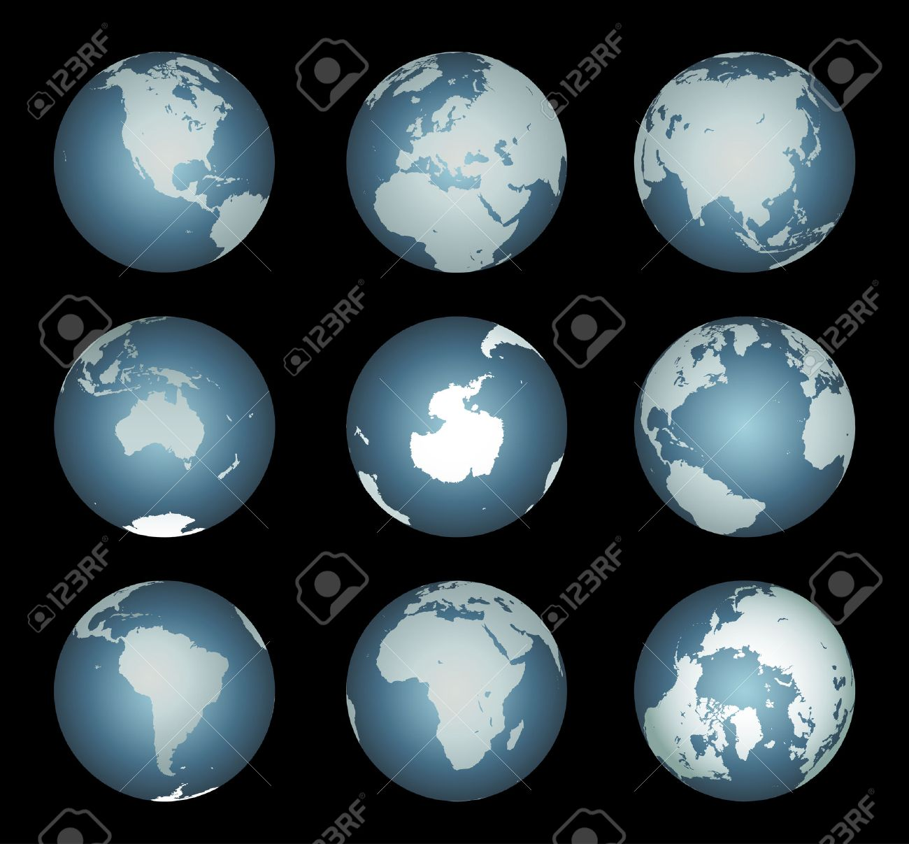 World continentsvector accurate map onto a globe includes world continentsvector accurate map onto a globe includes antarctica arctic gumiabroncs Image collections