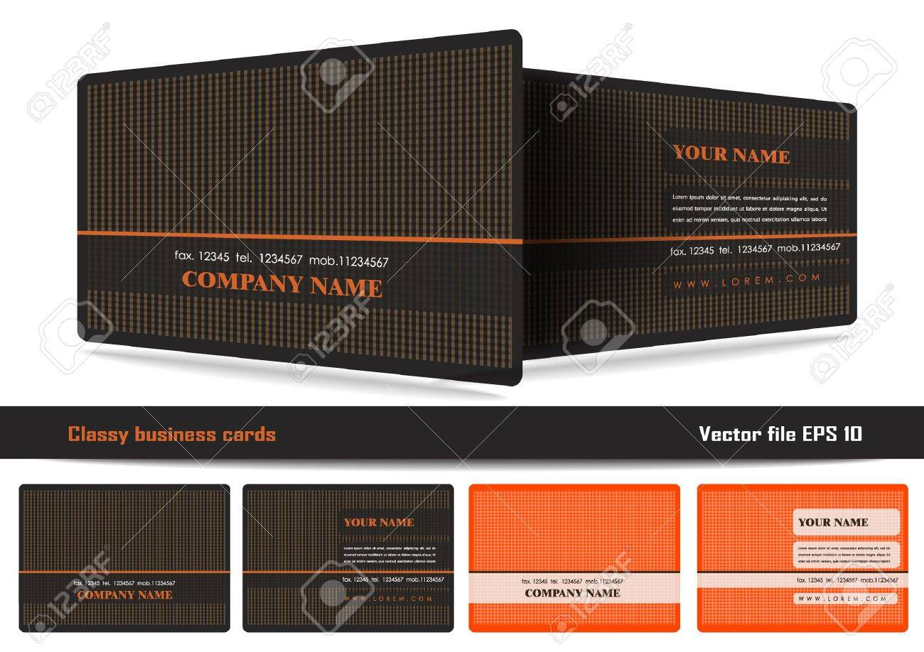 Classy Business Cards Royalty Free Cliparts, Vectors, And Stock ...
