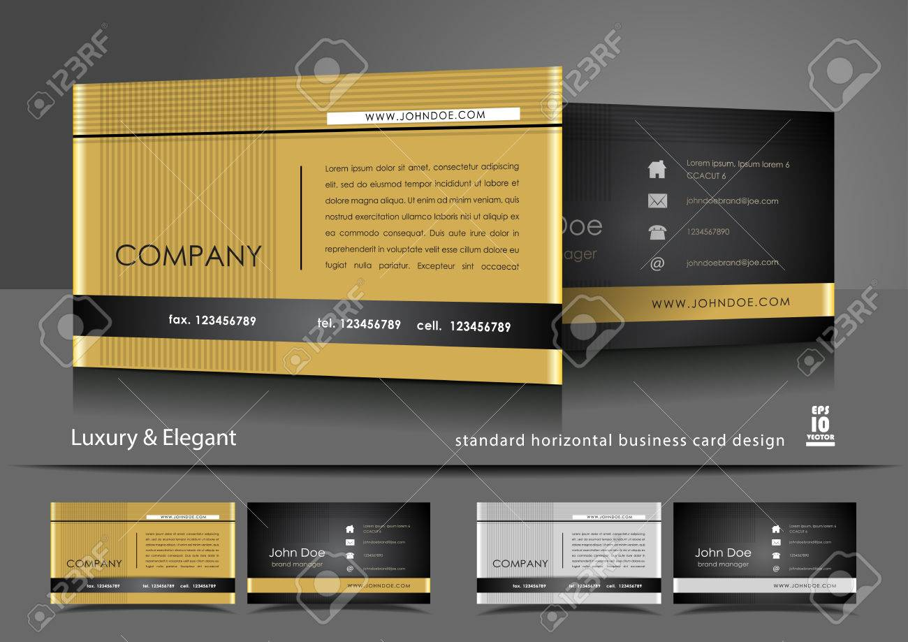 Professional Business Card Design Royalty Free Cliparts, Vectors ...