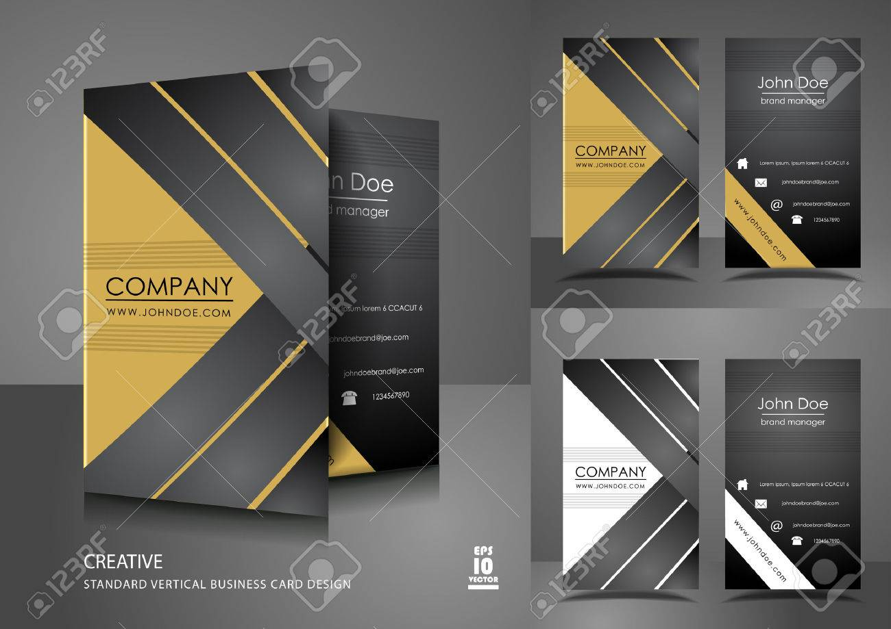 Creative Business Card Design Royalty Free Cliparts, Vectors, And ...