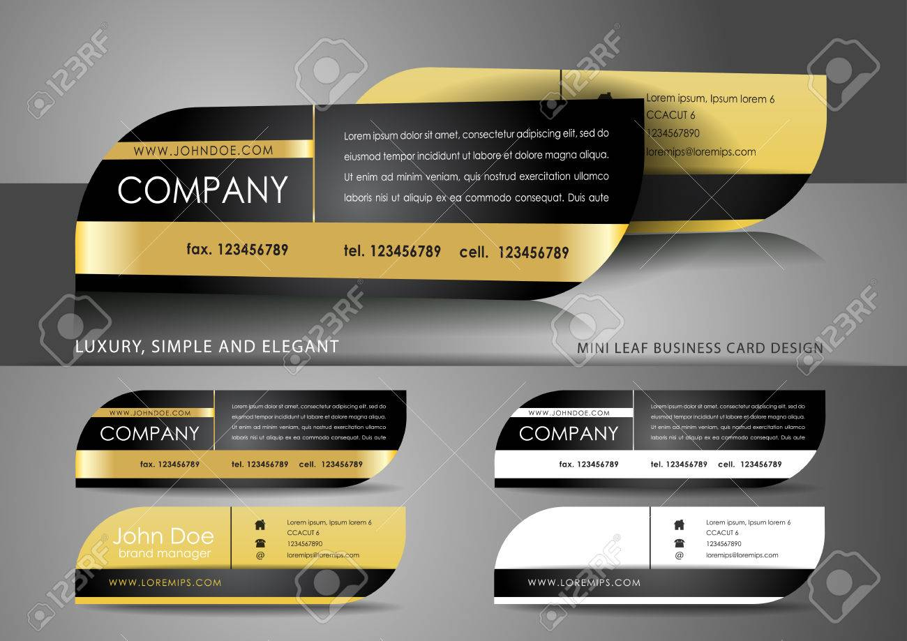 Mini Leaf Business Card Design Royalty Free Cliparts, Vectors, And ...
